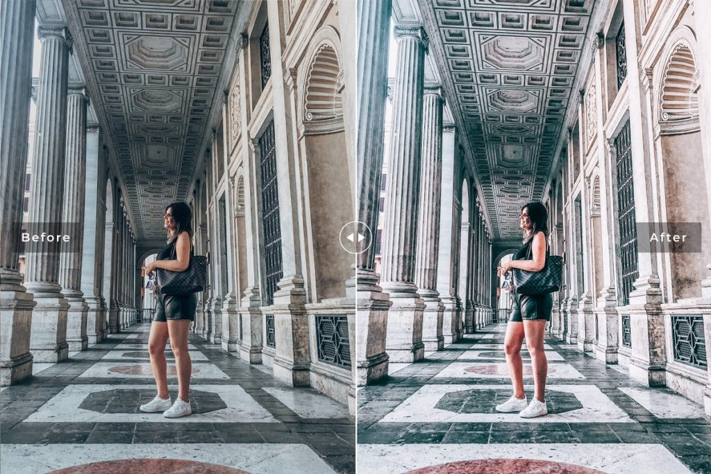 Пресет Perugia для Lightroom бледный